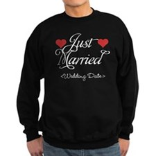 Just Marrried (Add Wedding Date) Sweatshirt
