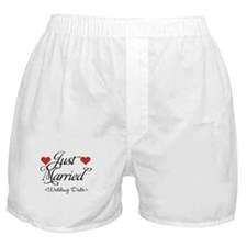 Just Marrried (Add Wedding Date) Boxer Shorts