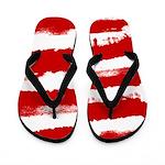 Rebel Stripes Flip Flops