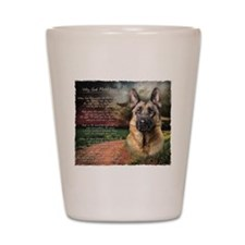 """""""Why God Made Dogs"""" GSD Shot Glass"""
