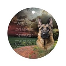 """Why God Made Dogs"" GSD Ornament (Round)"