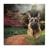 """Why God Made Dogs"" GSD Tile Coaster"