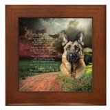 &quot;Why God Made Dogs&quot; GSD Framed Tile