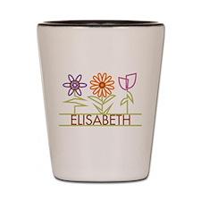Elisabeth with cute flowers Shot Glass