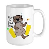 I Otter Be Scuba Diving Mug