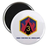 "SSI-3rd Chemical Bde with Text 2.25"" Magnet (100 p"
