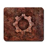 STEAMPUNK Rusted Gear Mousepad