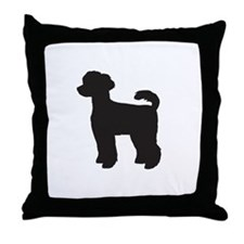 Miniature Poodle Throw Pillow