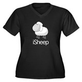 iSheep sleepy head Women's Plus Size V-Neck Dark T