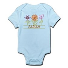 Sariah with cute flowers Infant Bodysuit