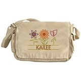 Kailee with cute flowers Messenger Bag