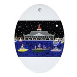 Newport Beach Boat Parade - Ornament (Oval)