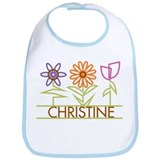 Christine with cute flowers Bib