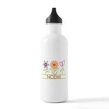 Noemi with cute flowers Water Bottle