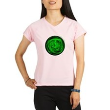 Green Fire Ball Performance Dry T-Shirt