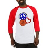 Peace, Love, Basketball Baseball Jersey