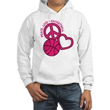 Peace, Love, Basketball Hoodie