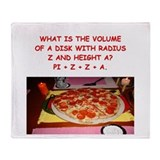 funny math/pizza joke Throw Blanket