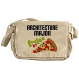 Architecture Major Fueled by Pizza Messenger Bag