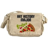 Art History Major Fueled by Pizza Messenger Bag