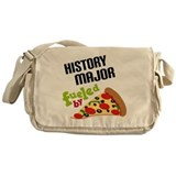 History Major Fueled by Pizza Messenger Bag