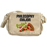 Philosophy Major Fueled by Pizza Messenger Bag