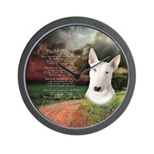"""Why God Made Dogs"" Bull Terrier Wall Clock"
