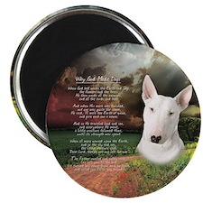 """Why God Made Dogs"" Bull Terrier Magnet"