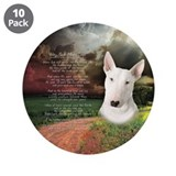"""Why God Made Dogs"" Bull Terrier 3.5"" Button (10 p"