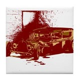 Rat Rod Red Tile Coaster