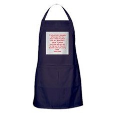Henry Ford quotes Apron (dark)
