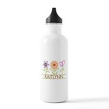 Kaitlynn with cute flowers Water Bottle
