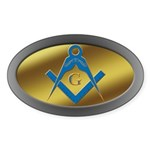 Masonic S&C Oval Sticker