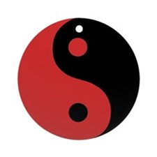 Ying Yang Red Ornament (Round)