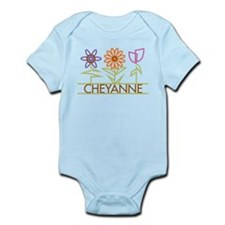 Cheyanne with cute flowers Infant Bodysuit