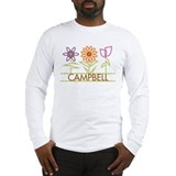 Campbell with cute flowers Long Sleeve T-Shirt