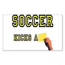 Yellow Card Rectangle Decal