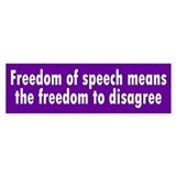 freedom of speech... Bumper Bumper Sticker