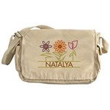 Natalya with cute flowers Messenger Bag
