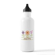 Jaidyn with cute flowers Water Bottle