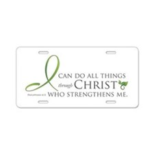 I can do all things through C Aluminum License Pla