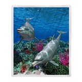 Ocean World 1 Throw Blanket