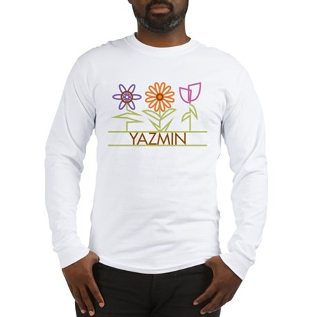 Yazmin with cute flowers Long Sleeve T-Shirt