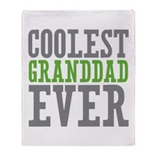 Coolest Granddad Throw Blanket