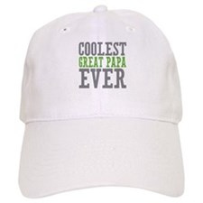 Coolest Great Papa Baseball Cap