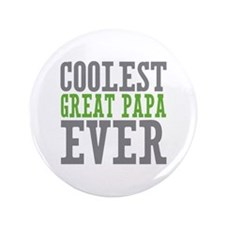 "Coolest Great Papa 3.5"" Button (100 pack)"