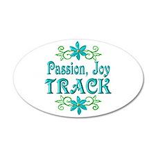 Track Joy 22x14 Oval Wall Peel