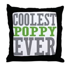 Coolest Poppy Throw Pillow