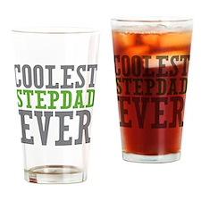Coolest Stepdad Drinking Glass