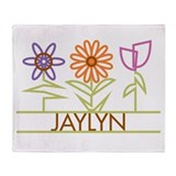 Jaylyn with cute flowers Throw Blanket